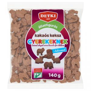 Detki Kakaós Állatfigurás  keksz Gyerekeknek 140g
