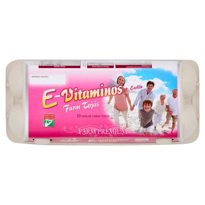 10 db E-vitaminos Farm Tojás