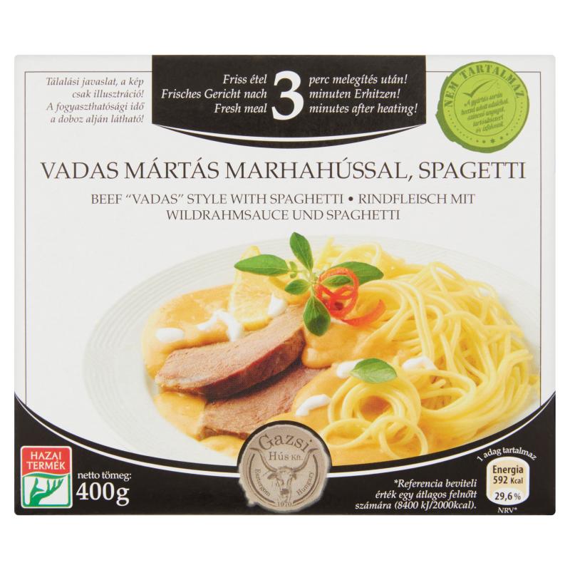 Vadas mártás marhahússal spagettivel