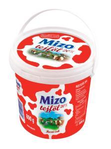 MIZO Tejföl 20% 800g Vödrös