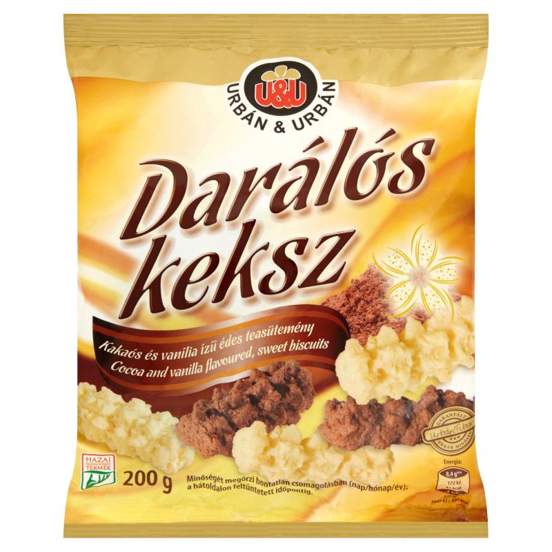 Urbán Darálós keksz Kakaós és vanília ízű édes teasütemény 200g