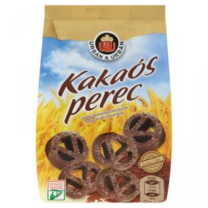 Urbán és Urbán Kakaós perec Kakaós étbevonómasszával mártott vanília ízű édes teasütemény 160g