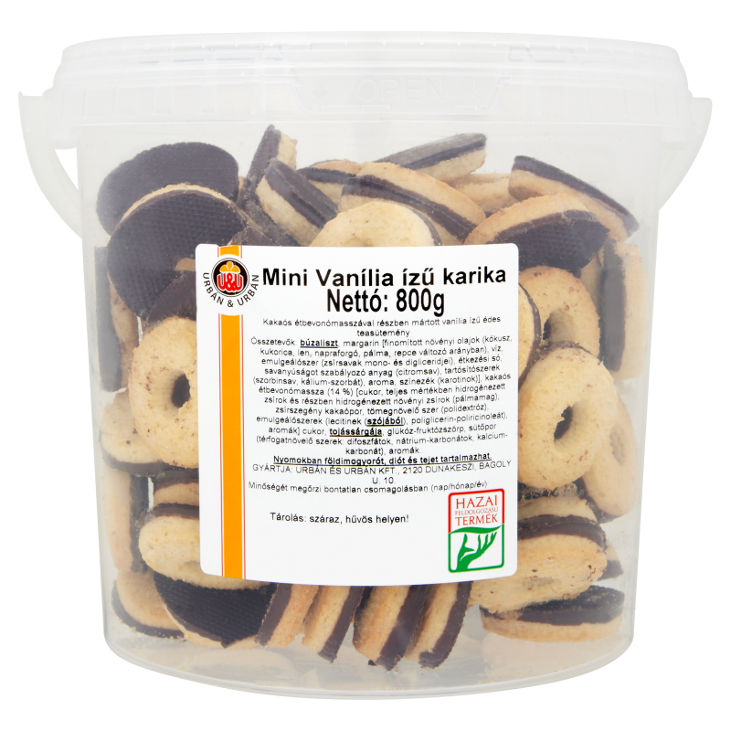 Urbán Mini vanília ízű karika 800g