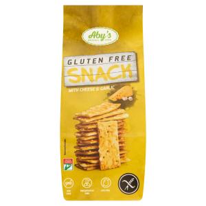 ABY gluténmentes snack- sajtos-fokhagymás