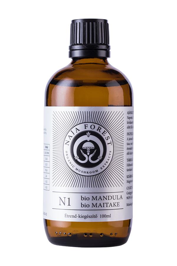 Naja Forest N1 Bio Mandula, Bio Maitake étrend-kiegészítő, 100 ml