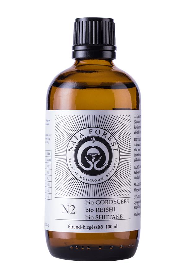 Naja Forest N2 bio Cordyceps, bio Reishi, bio Shiitake étrend-kiegészítő, 100 ml