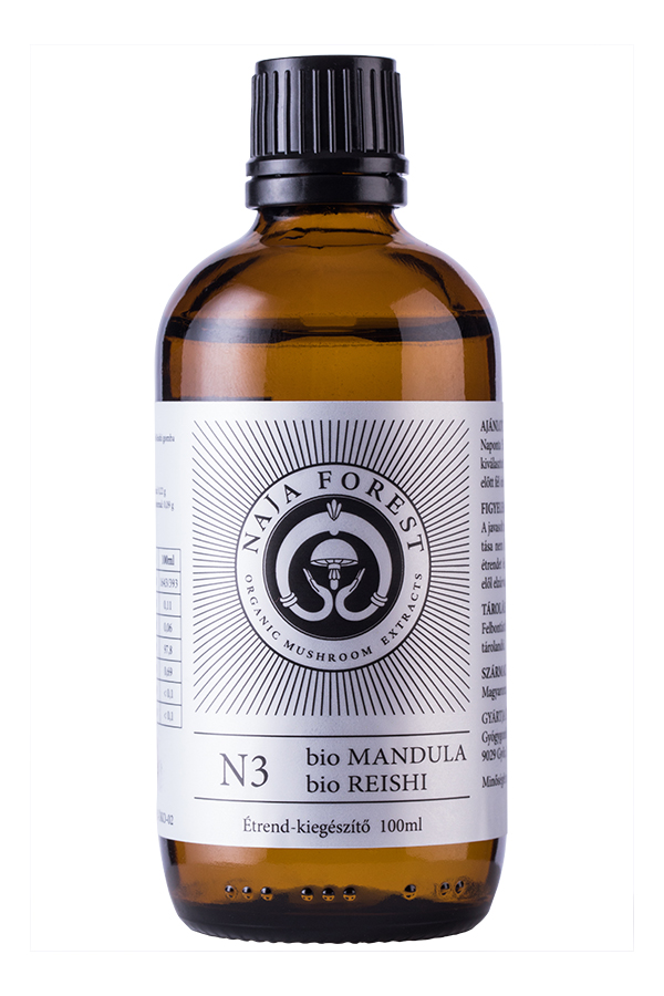 Naja Forest N3 bio Mandula, bio Reishi étrend-kiegészítő, 100 ml
