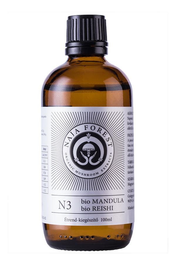 Naja Forest N3 bio Mandula, bio Reishi étrend-kiegészítő, 50 ml