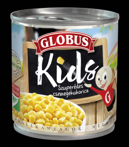 Globus Kids morzsolt csemegekukorica vákuumzárású 150g