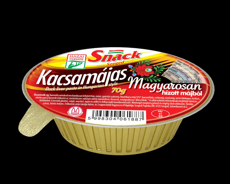 """Snack"" Kacsamájas magyarosan 70g"