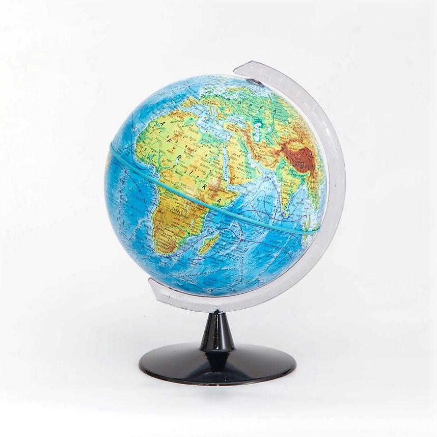 16 cm átmérőjű hegy-vízrajzi földgömb