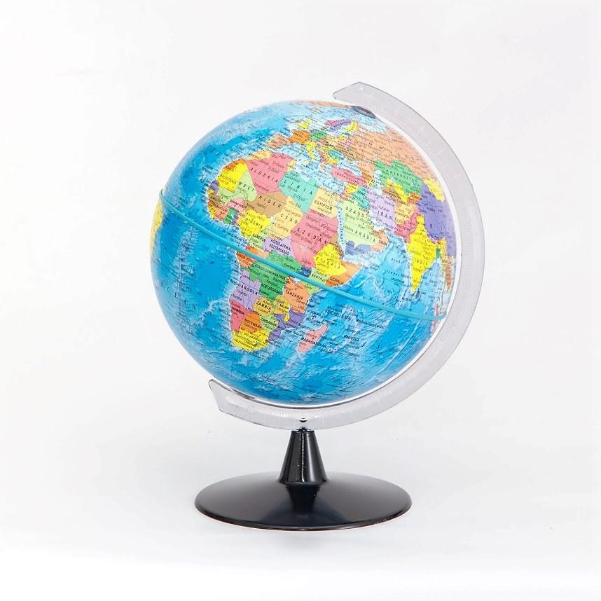 16 cm átmérőjű politikai földgömb