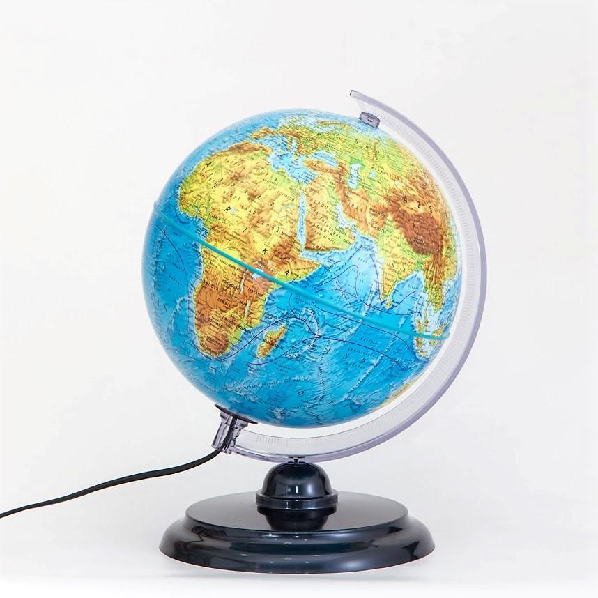 25 cm átmérőjű átvilágító duó földgömb