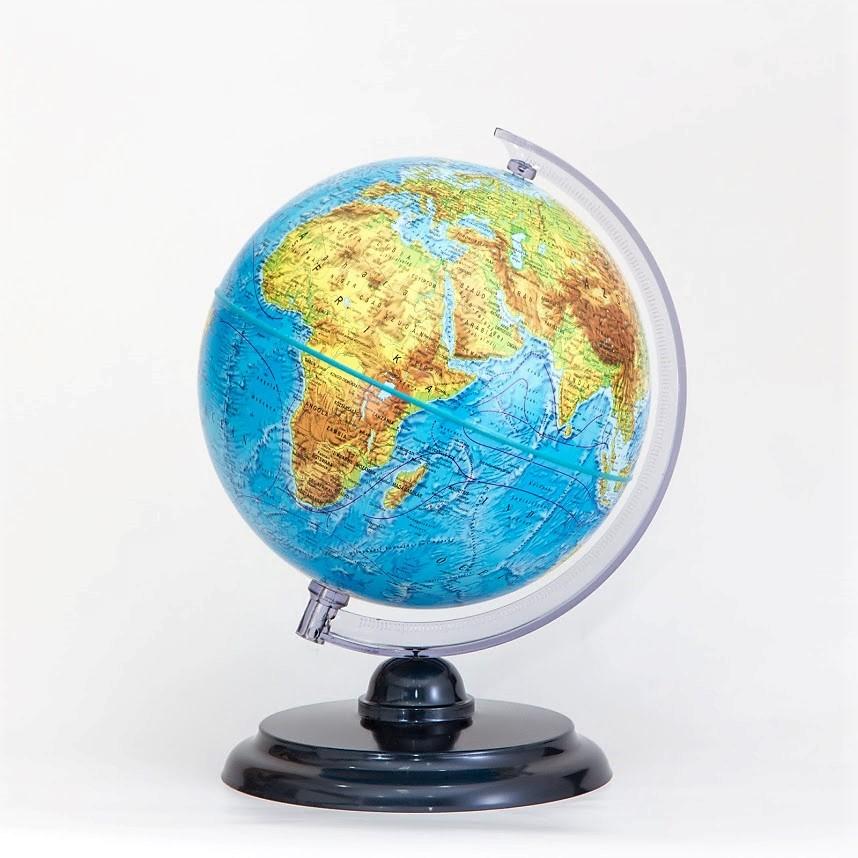25 cm átmérőjű hegy-vízrajzi földgömb