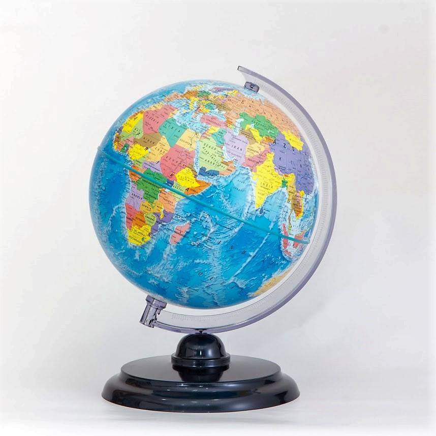 25 cm átmérőjű politikai földgömb