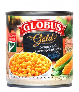 Globus Szuperédes morzsolt csemegekukorica vákuumzárású 150g