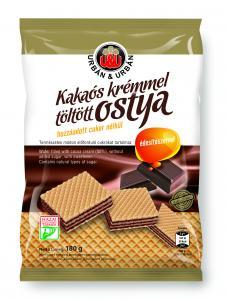 Urbán és Urbán Mini vanília ízű karika Kakaós étbevonómassszával részben mártott vanília ízű édes teasütemény 160g