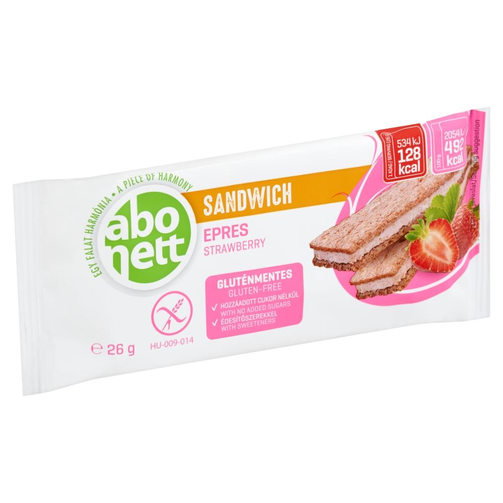 Abonett gluténmentes szendvics, epres