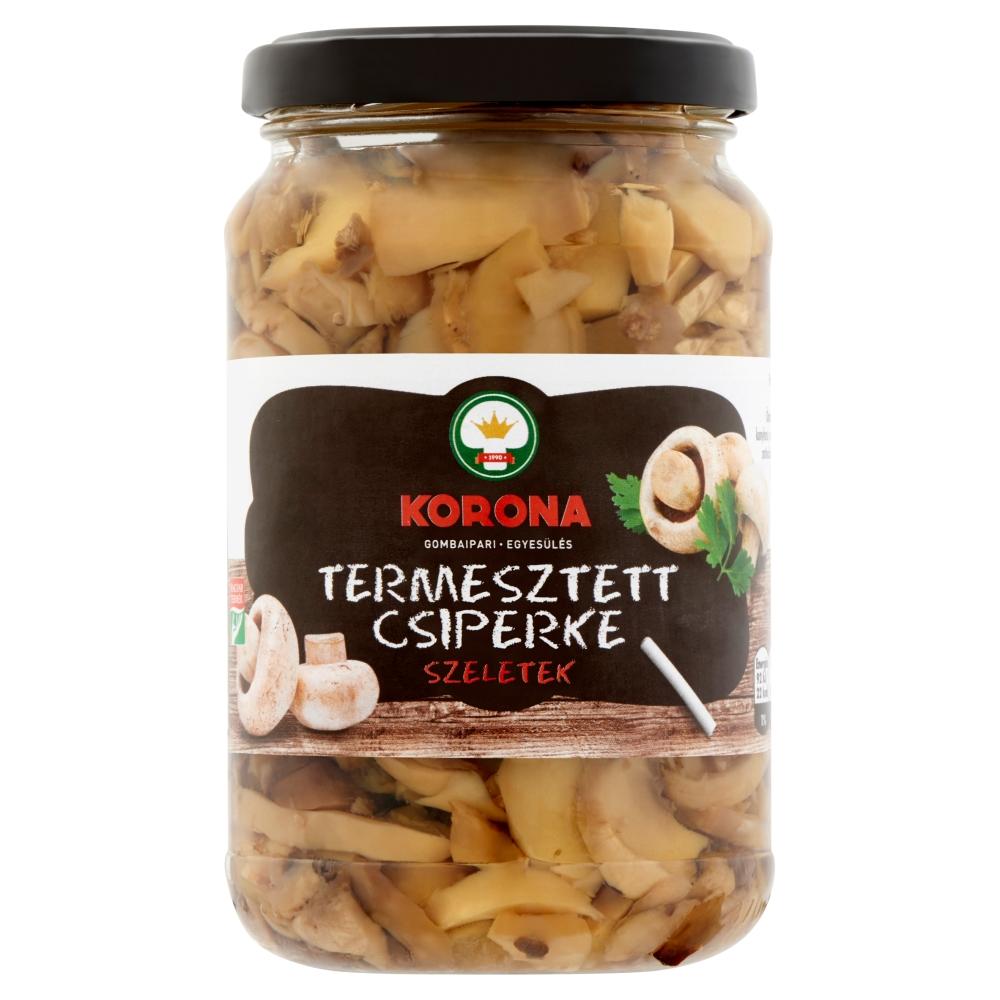 TESCO Korona termesztett csiperke szeletek üvegben 370ml