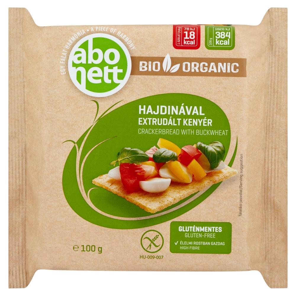 Abonett bio extrudált kenyér, hajdinával. Gluténmentes