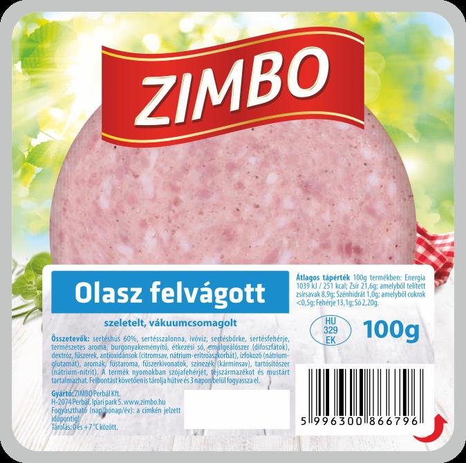 ZIMBO Olasz felvágott 100g