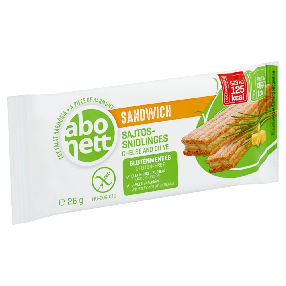 Abonett gluténmentes szendvics, sajtos-snidlinges