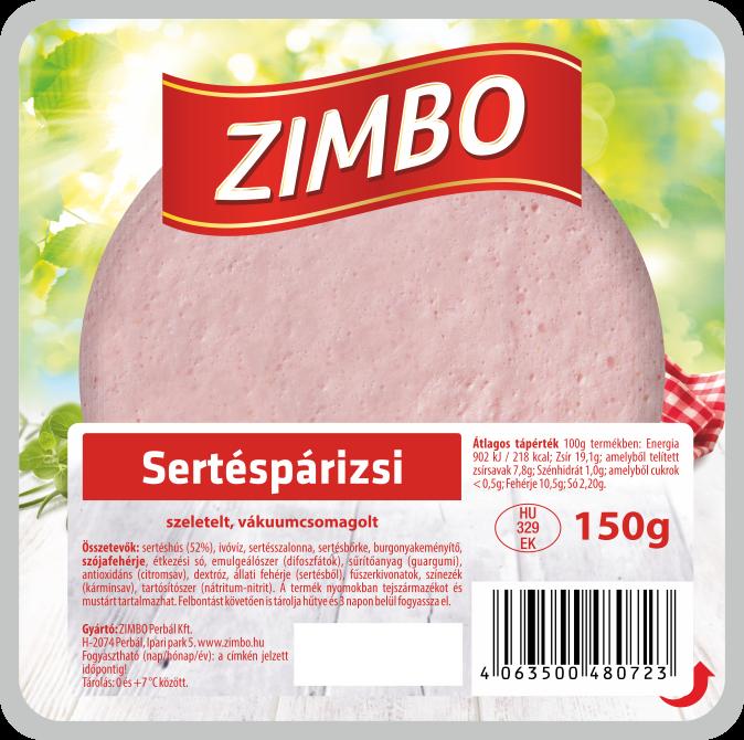 ZIMBO Sertéspárizsi 150g