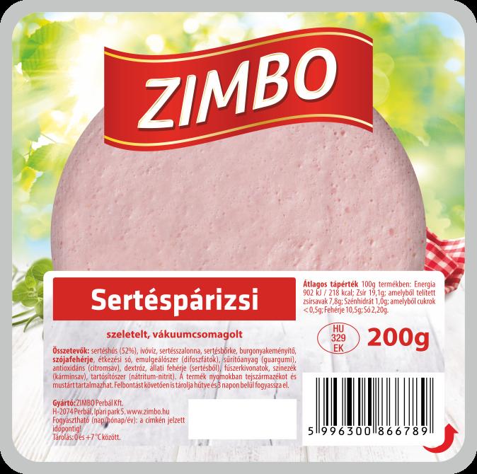ZIMBO Sertéspárizsi 200g