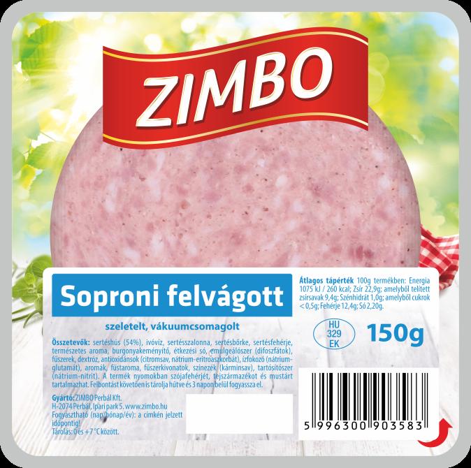 ZIMBO Soproni felvágott 150g