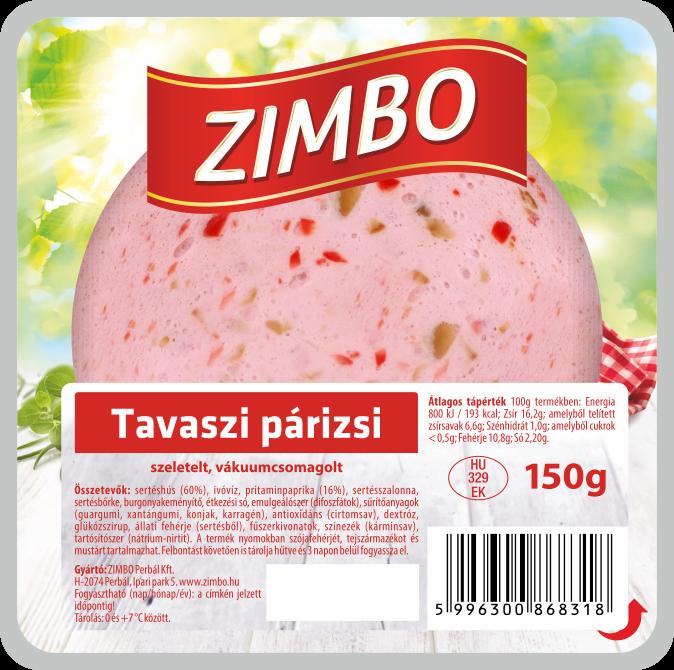 ZIMBO Tavaszi párizsi 150g